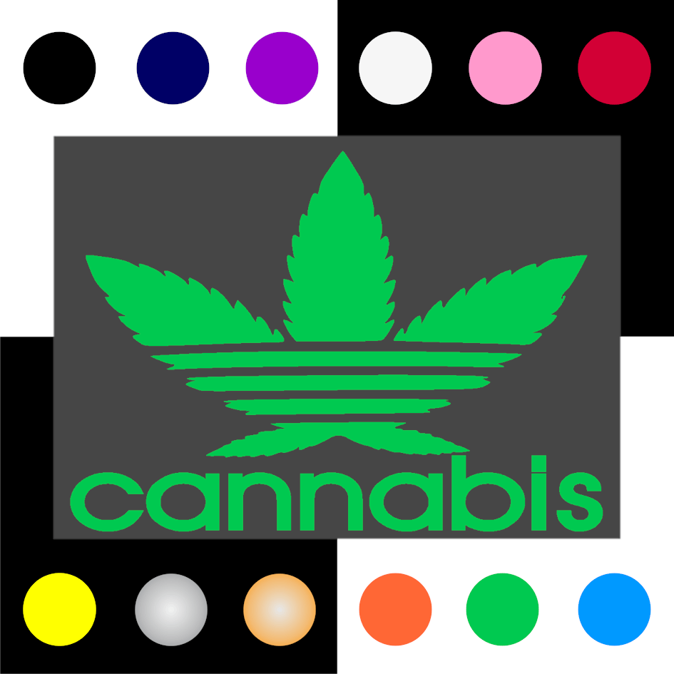 Cannabis Iron On Transfer 28x20cms for ALL Garments
