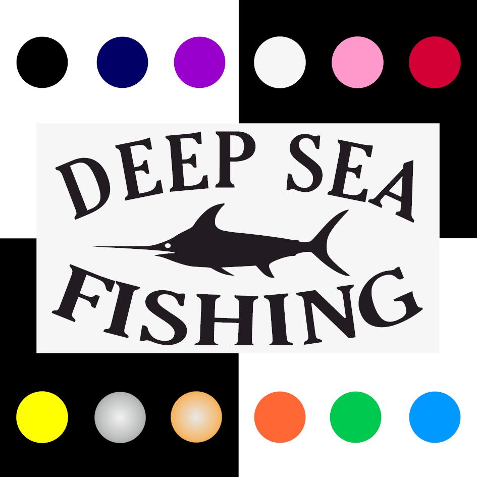 Deep Sea Iron On Transfer 28x15cms for ALL Garments