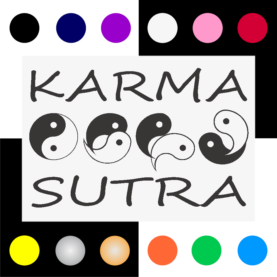 Karma Iron On Transfer 28x20cms for ALL Garments