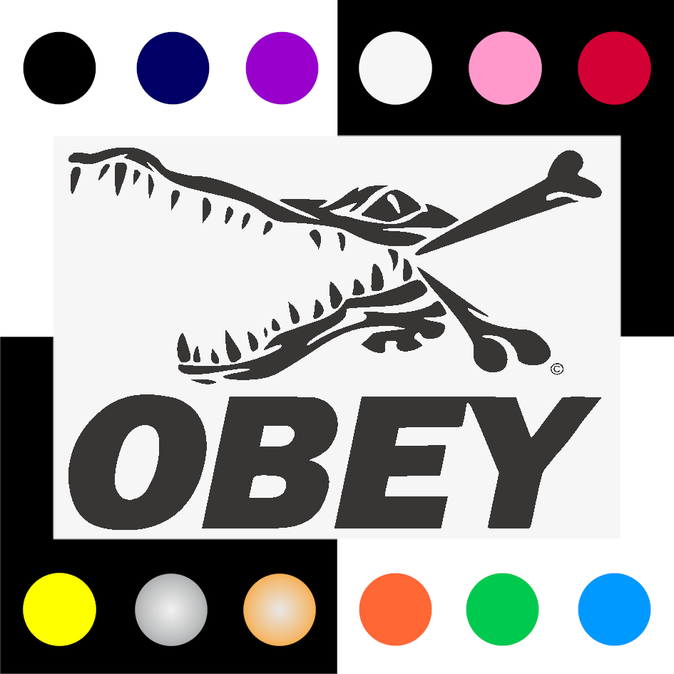Obey Croc Iron On Transfer 28x20cms for ALL Garments