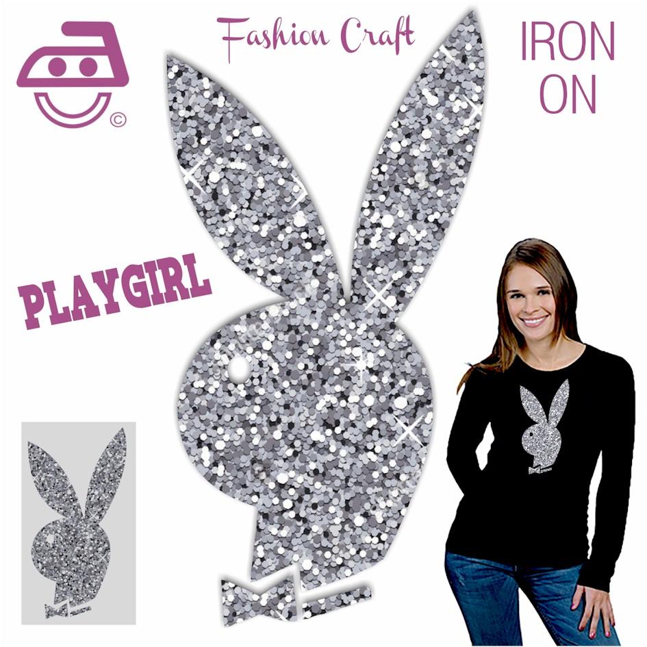 Play Girl Iron On Glitter Transfer for ALL Garments