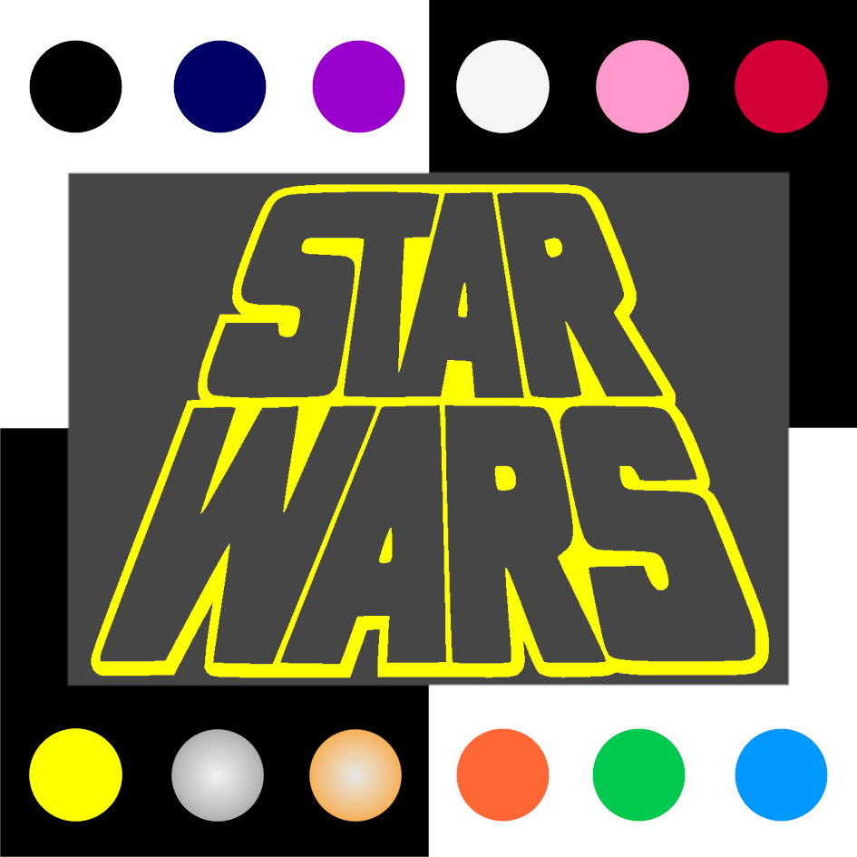Star Wars Iron On Transfer 28x20cms for ALL Garments