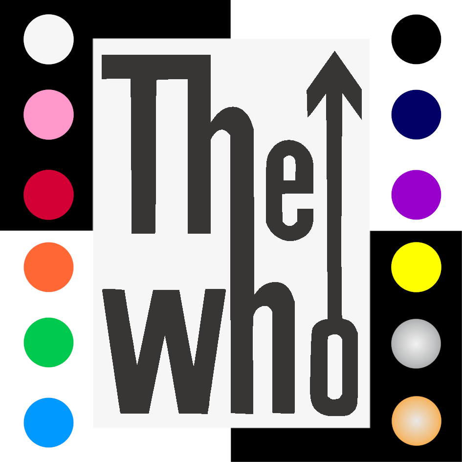 The Who Iron On Transfer 28x20cms for ALL Garments