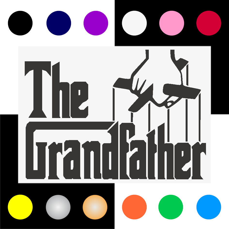 Grandfather Iron On Transfer 28x20cms for ALL Garments