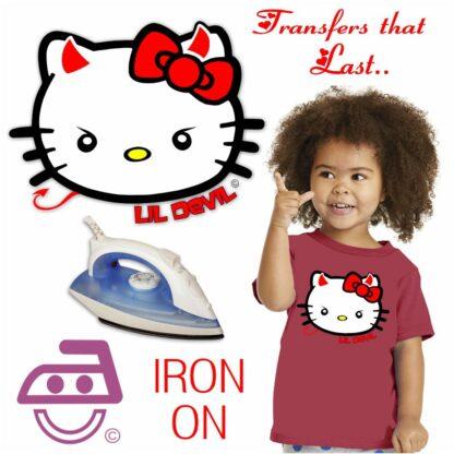 Hello Kitty Lil Devil Iron On Transfer
