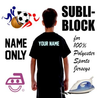 Subli Block Name Only Iron On transfer