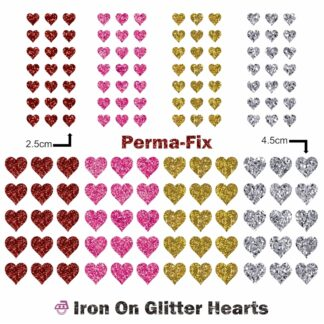 Iron On Glitter Hearts